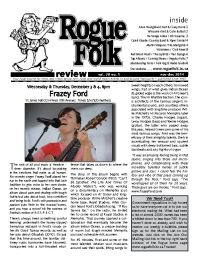 Rogue Folk Review front page
